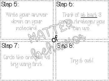 Student Monitored Respite/Break Cards