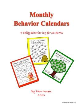 Student Monthly Behavior Calendars