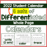 Calendar SY 2016-17 Differentiated DIY Student Calendar -