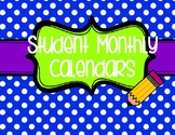 Student Monthly Calendars
