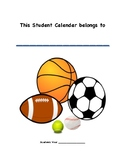 Student Monthly Planner SPORTS THEME