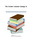 Student Monthly Planner BOOK THEME