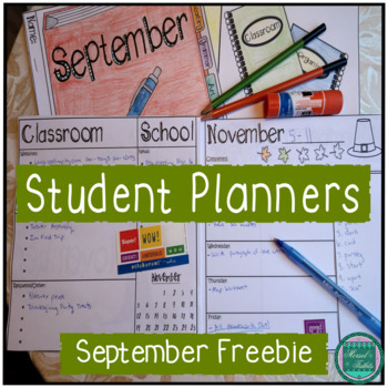 Student Monthly Planners: September Freebie