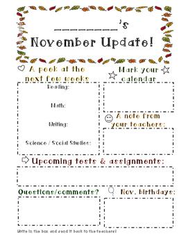 Student Monthly Updates