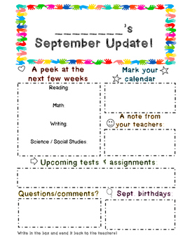 Student Monthly Updates