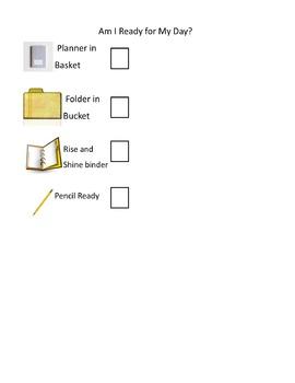 Student Morning Checklist