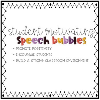 Student Motivating Speech Bubble Quotes