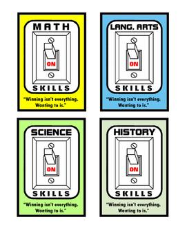 Student Motivation Cards