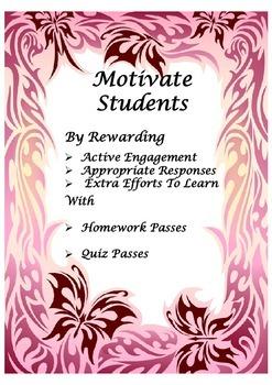 Student Motivational Passes
