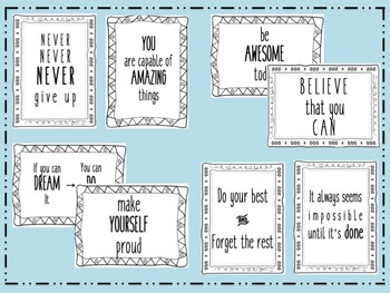 Student Motivational Quote Cards