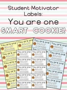 Student Motivator Labels: You Are One Smart Cookie!