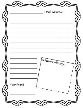 Student Moving Letter Templates