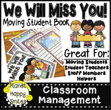 Student Moving Memory Book, We Will Miss You!