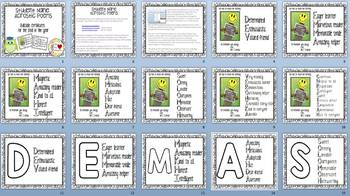 Student Name Acrostic Poems EDITABLE End of Year Certificates