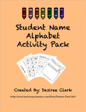 Student Name Alphabet Activity Pack