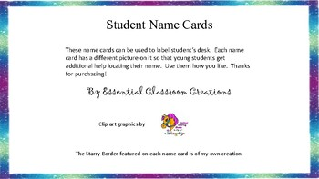Student Name Cards