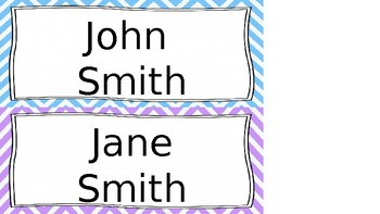 Student Name Cards (Editable)