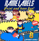 Student Name Labels - Editable Character Labels - Super Hero Labels