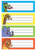 Student Name Labels - Jungle Theme