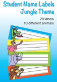 Student Name Labels - Jungle Theme