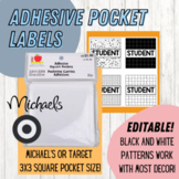 Student Name / Number Labels - Black and White Decor (EDITABLE)