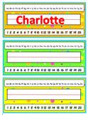 Student Name Plates