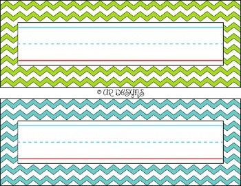Student Name Plates - Chevron, Classroom Decor, Simple, Bright Colors! {FREEBIE}