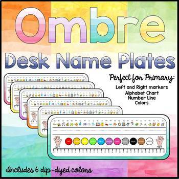 Student Name Plates/Desk Tags