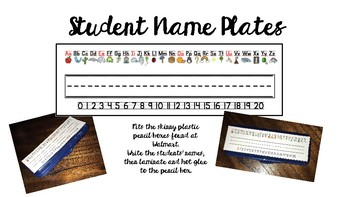 Student Name Plates for Pencil Boxes
