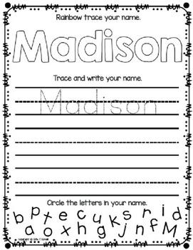 Student Name Practice (Editable)