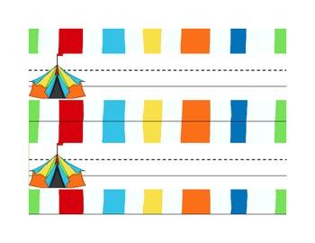 Student Name Tag Deskplate Circus Theme