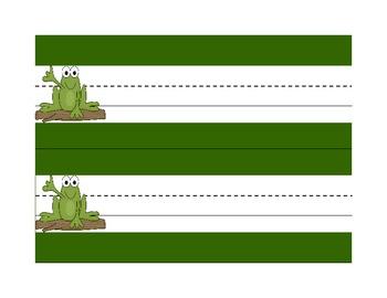 Student Name Tag Deskplate Frog Theme