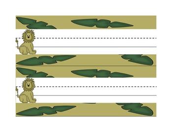 Student Name Tag Deskplate Jungle Safari II Theme