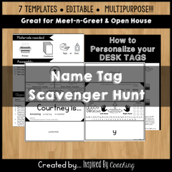 Student Name Tag Scavenger Hunt Activity