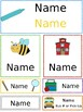 Student Name Tag Sheets