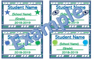 Student Name Tag-Write in