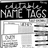 Student Name Tags