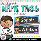 Student Name Tags {Chalkboard}