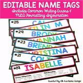 Student Name Tags {EDITABLE}