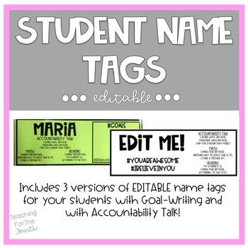 Student Name Tags *EDITABLE*