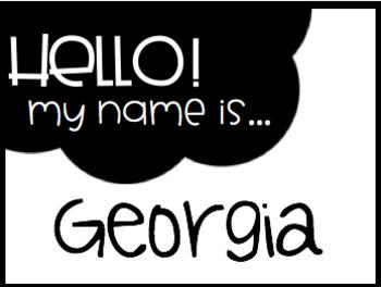 Student Name Tags (Horizontal - 4x3)