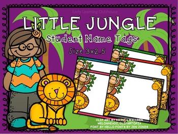 Student Name Tags - Jungle