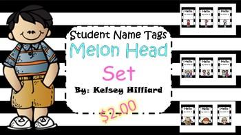 Student Name Tags (Melon Head Kids Set) Hello My Name Is... classroom decor