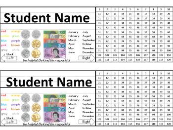 Student Name Tags/Name Plates and Desk Charts - EDITABLE
