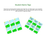 Student Name Tags Outdoor Theme