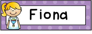 Name Tags - Large {Polka Dot Locker Tub Labels}