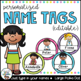 Student Name Labels {Round Polka Dot}