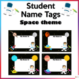 Student Name Tags Space Theme