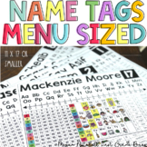 Name Tags and Resource Helpers MENU SIZED