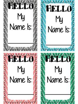 Student Name Tags for Classroom Management (Herringbone Design) can be edited